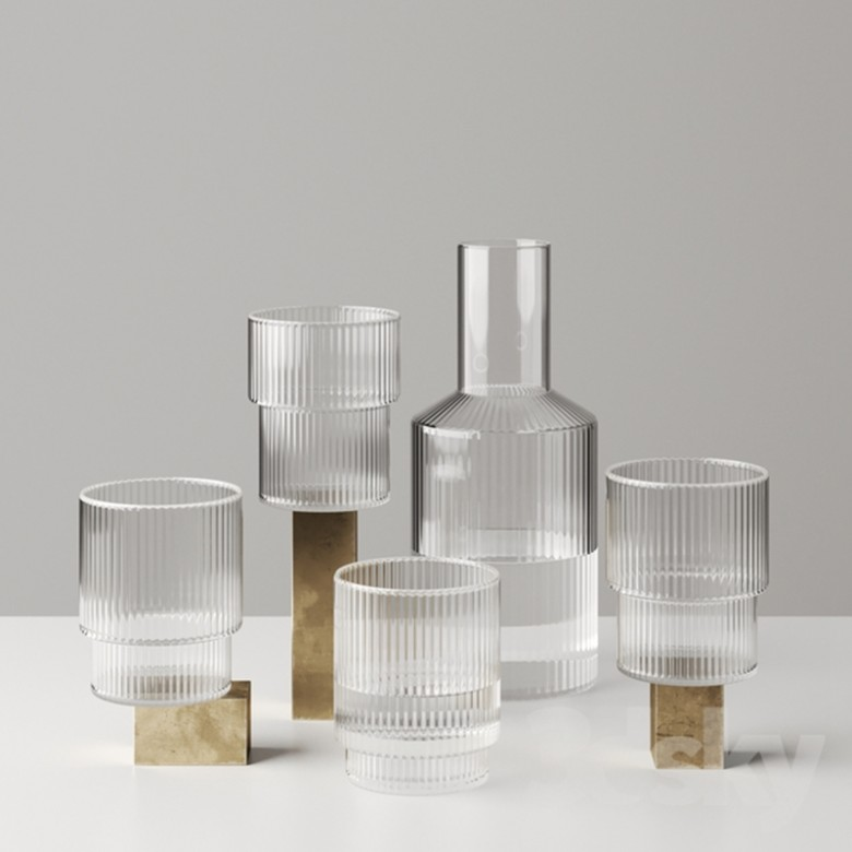 Ripple Carafe Set - Small水杯*1+水壶*1