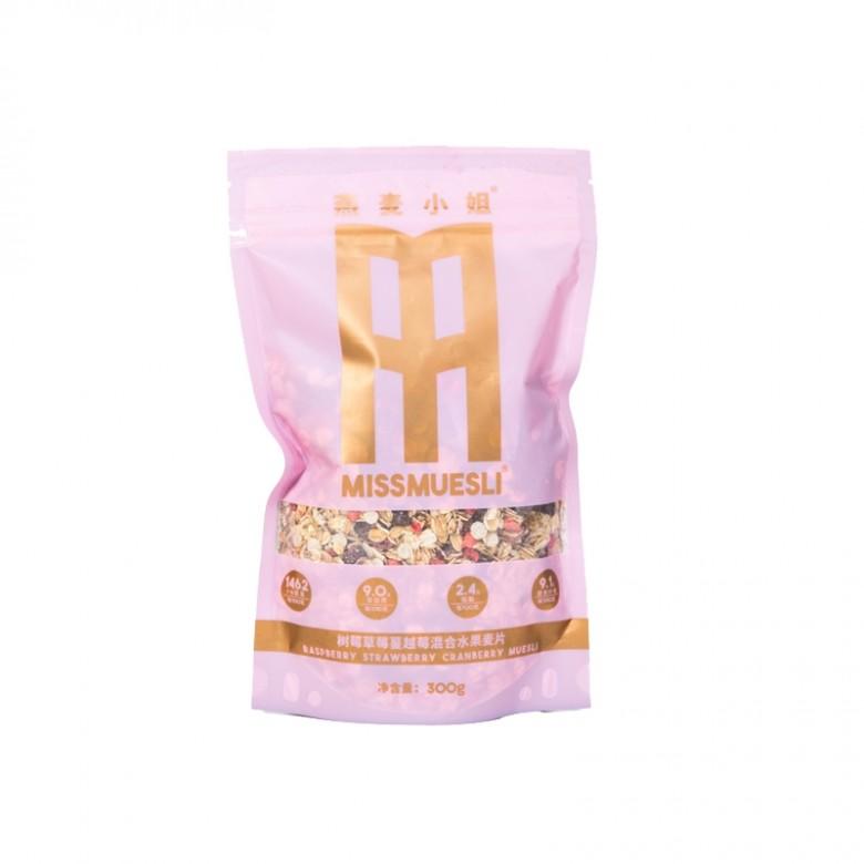 1袋装(草莓树莓蔓越莓水果燕麦片)