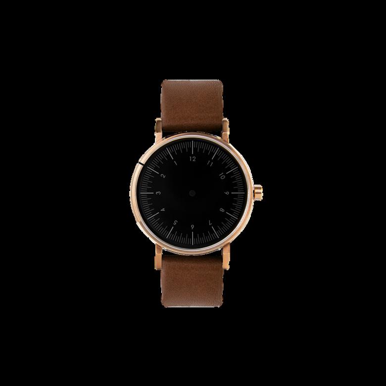 Nova Brown金表壳|黑表盘|棕咖表带