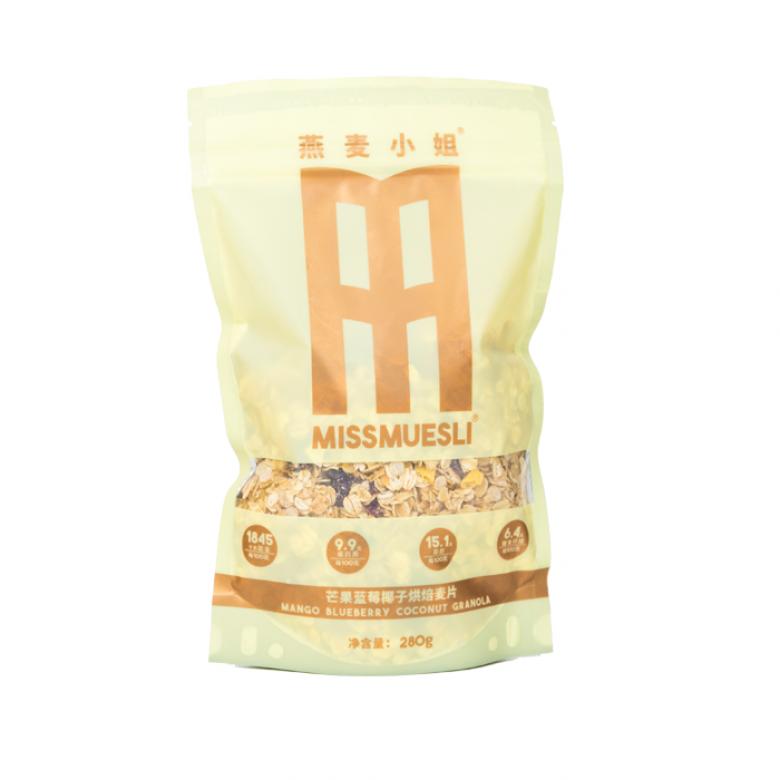 1袋装(芒果蓝莓椰子烘焙燕麦片)