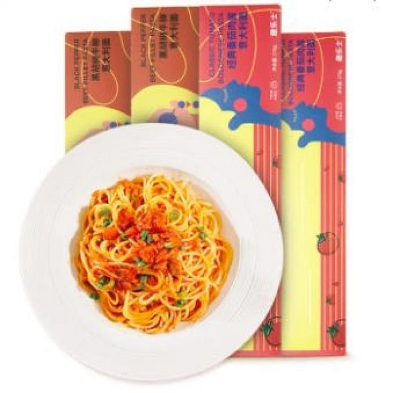 番茄肉酱*2+黑椒牛柳*2