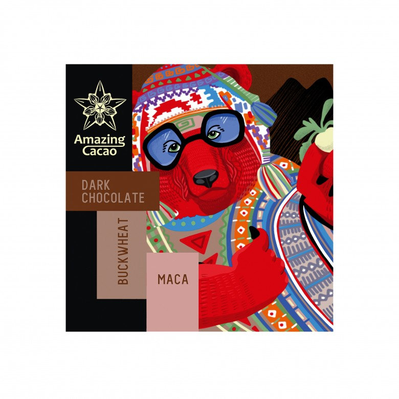 荞麦玛咖黑巧克力