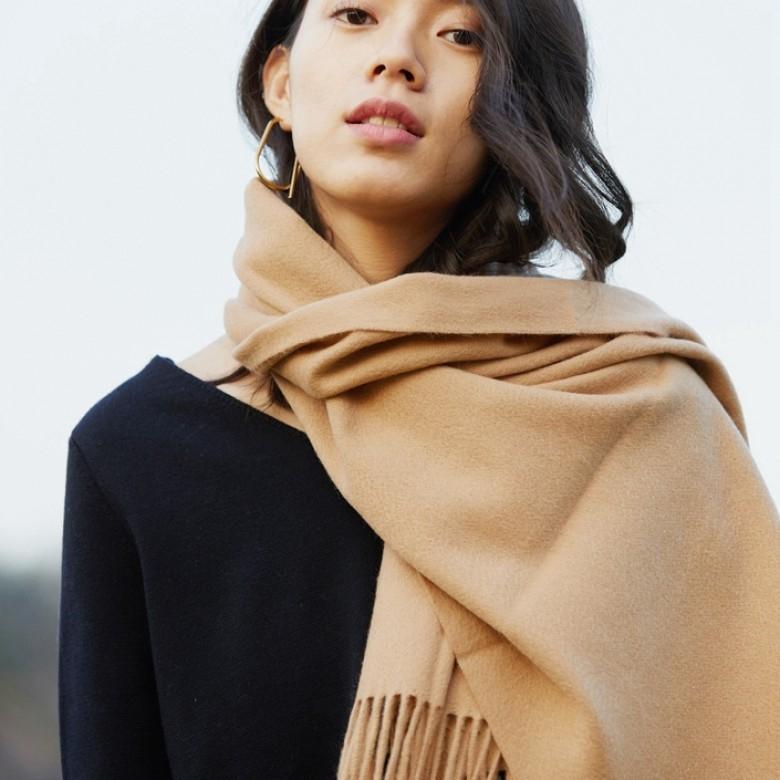 子时 冬季纯色羊毛围巾
