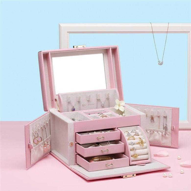 VLANDO·都市丽人超豪华带锁首饰盒礼盒装·2色选