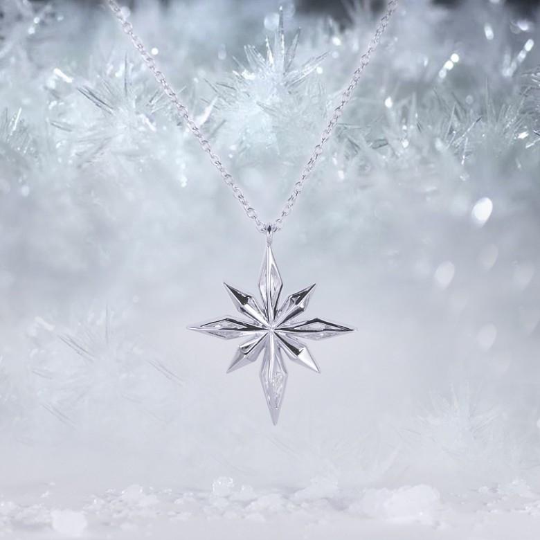 RHYMISTIME·时间诗人925银雪花项链简洁版