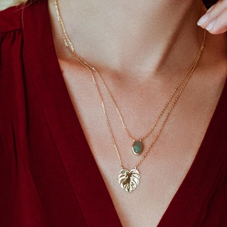 St Doré 朵蕊·金棕榈双层项链