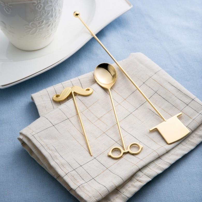 日本 ELFIN·高桑金属咖啡具搅拌三件套