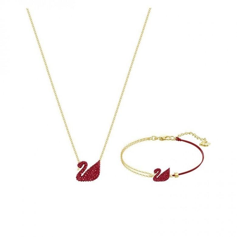 奥地利SWAROVSKI·红色天鹅妩媚鸿运女套装5468352