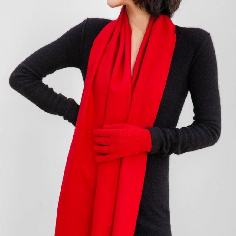 茧致·鼠你红 真丝拉绒围巾礼盒装 升级款 100%桑蚕丝