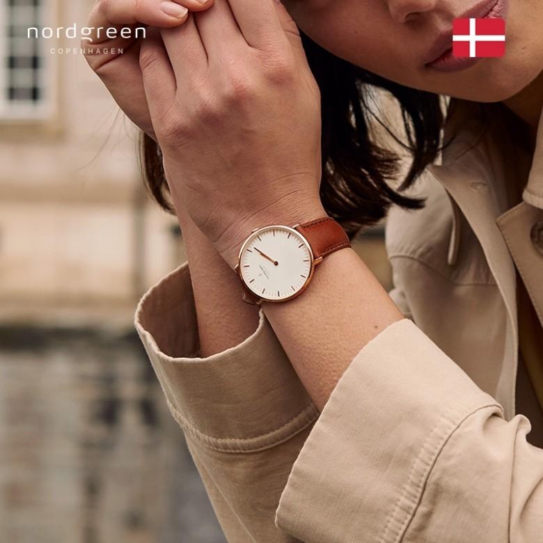 丹麦NORDGREEN·诺德格林本真系列石英玫瑰金手表女款36mm·7色选