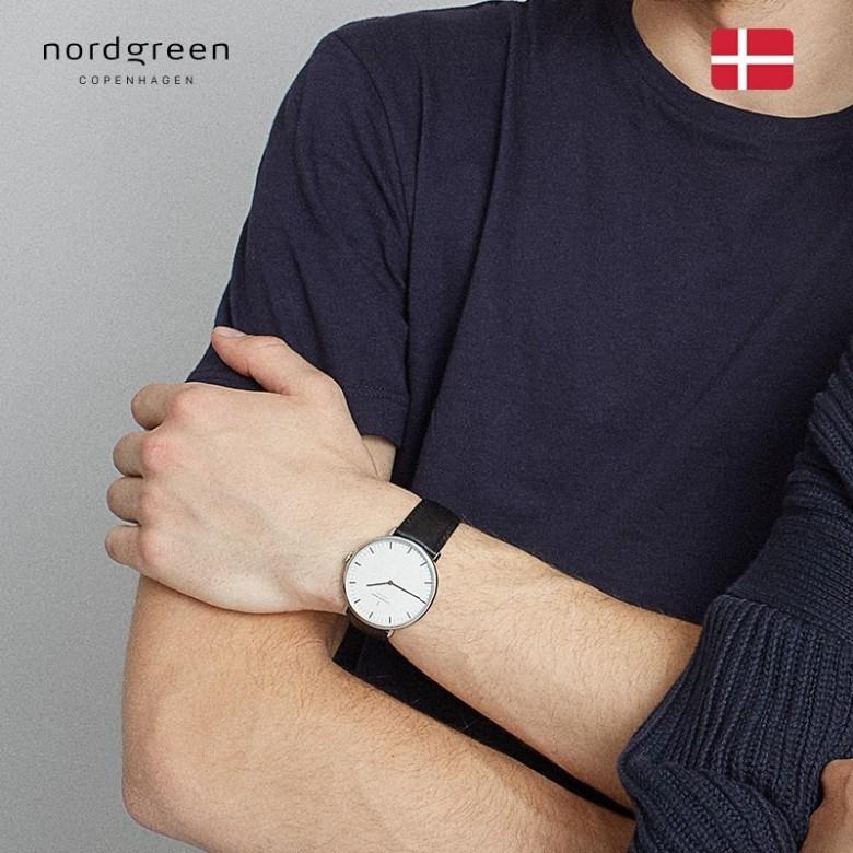 丹麦NORDGREEN·诺德格林本真系列石英玫瑰金手表男款40mm·5色选
