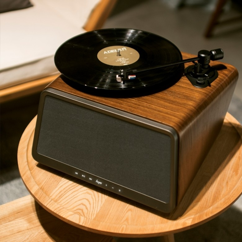 HYM · Seed蓝牙黑胶唱片机·胡桃木款