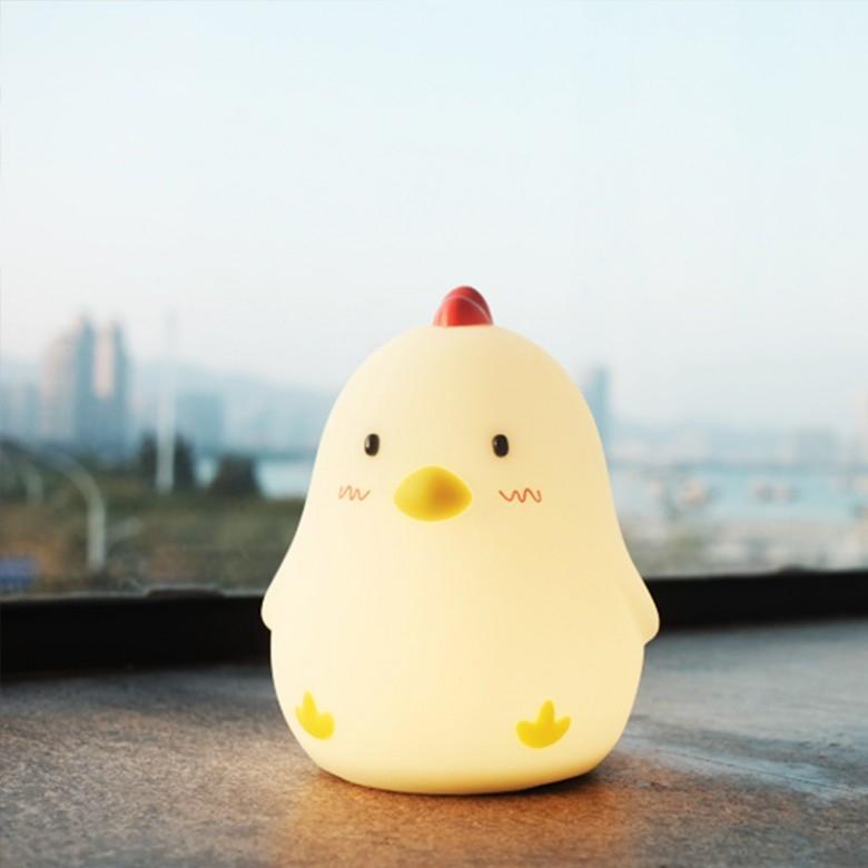 MUID早起鸡可爱创意闹钟氛围夜灯