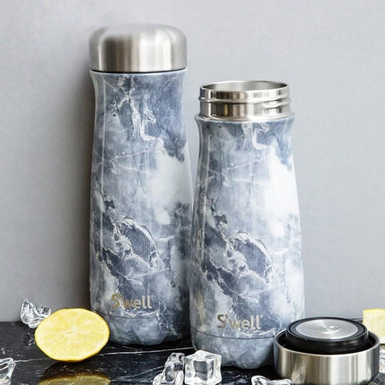 swell·新品travele系列不锈钢保温瓶470ml 蓝色花岗岩