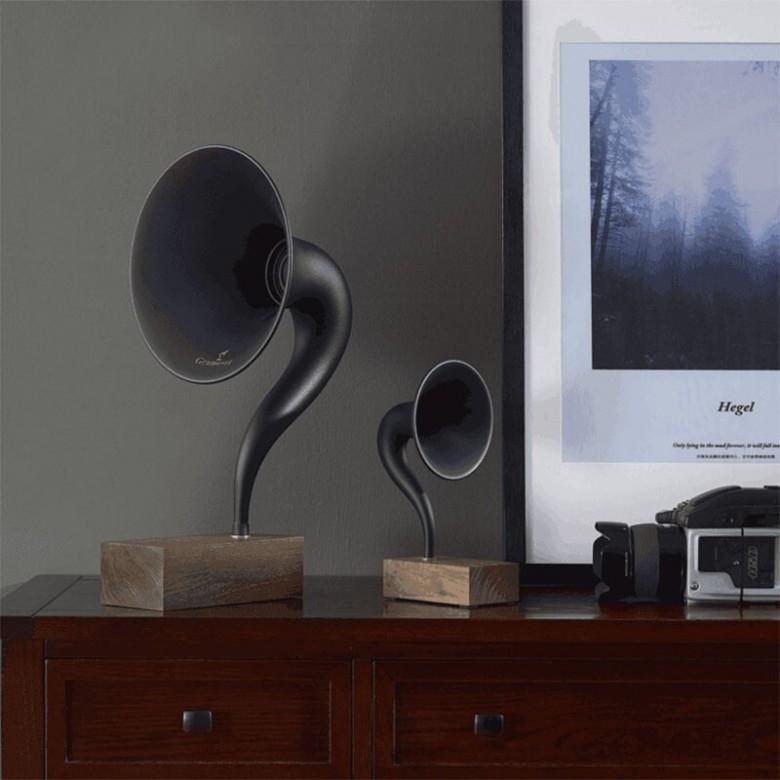 美国Gramovox· Gramophone格莱美mini版美式复古蓝牙音箱手机无线充电