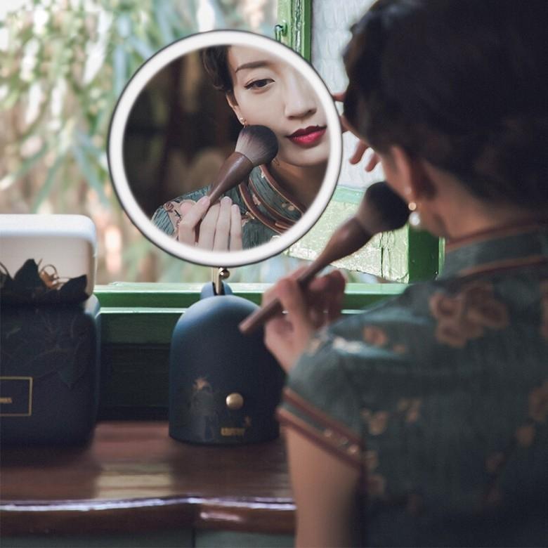 Lofree洛斐·国家宝藏 国色春光系列 LED藏月化妆镜