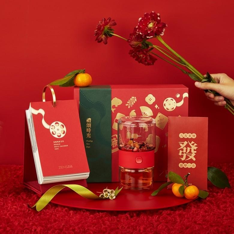 哲品·知味派茶具台历红包贴纸新春礼盒·4款选