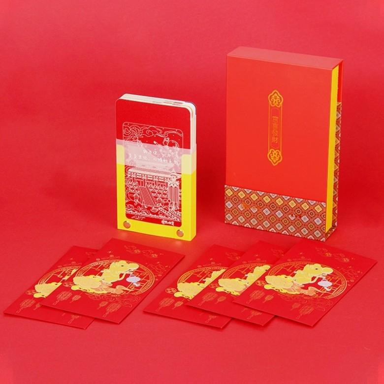 AIT CARD·故宫宫廷文化联名3D手撕记事本2020鼠年新年红包礼盒