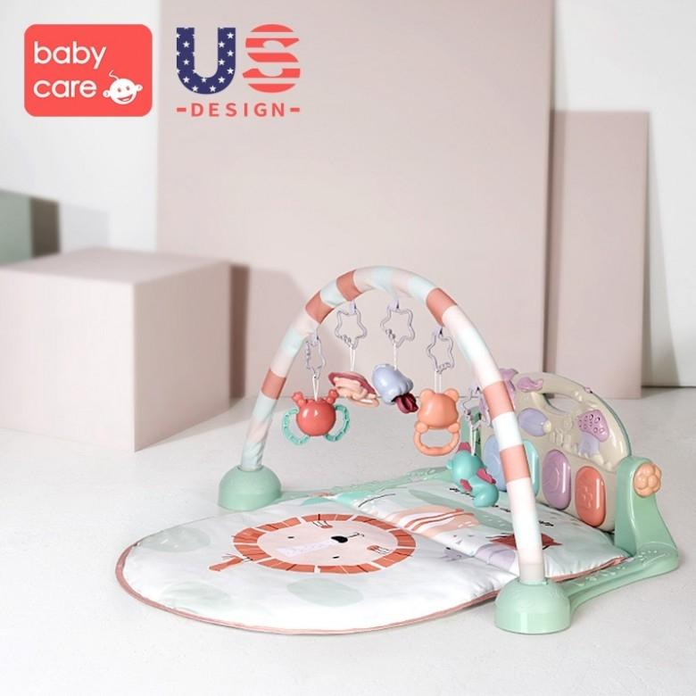 美国babycare·婴儿健身架脚踏钢琴5096 0-3-6月1岁宝宝益智玩具·2色选