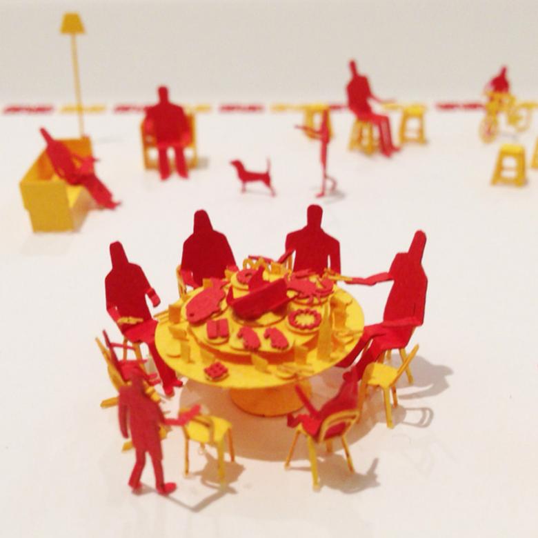 日本TERADA MOKEI·中国特别限定版阖家团圆纸质模型