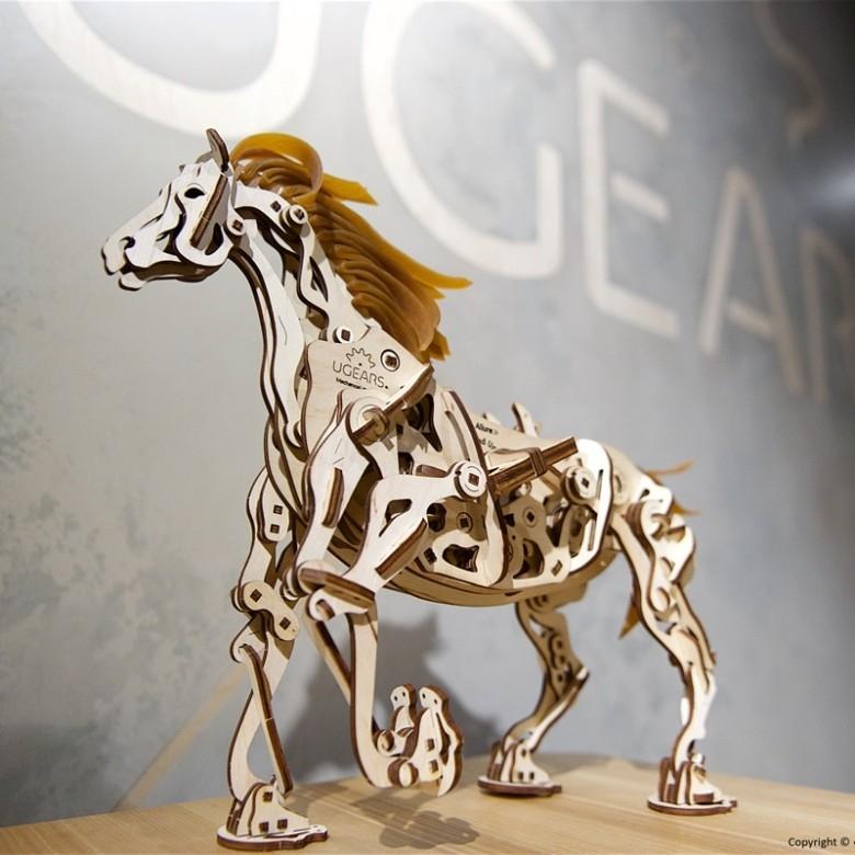 乌克兰Ugears·木质机械传动模型仿生马机械式木马