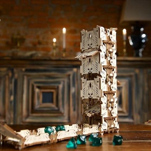 乌克兰ugears•乌格塔罗牌木质机械传动模型-骰子塔