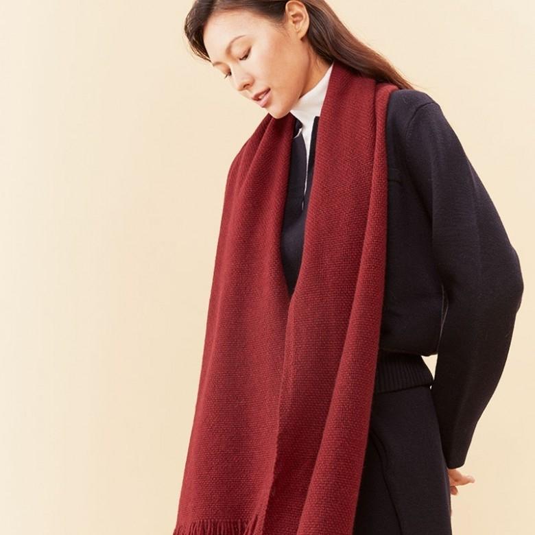子时·2019冬季新品针织肌理羊绒披肩围巾·3色选