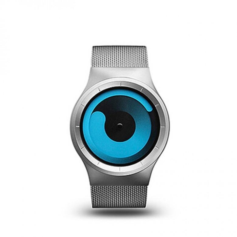 德国ZIIIRO·mercury水星概念无指针腕表 ·蓝表盘