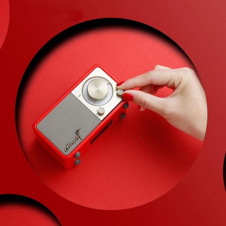 中国台湾SANGEAN·莫扎特摩登红便携手机外接音箱收音机