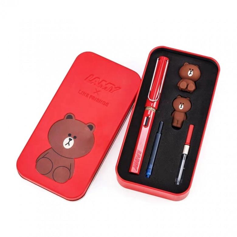 德国LAMY ·凌美钢笔红色布朗熊礼盒