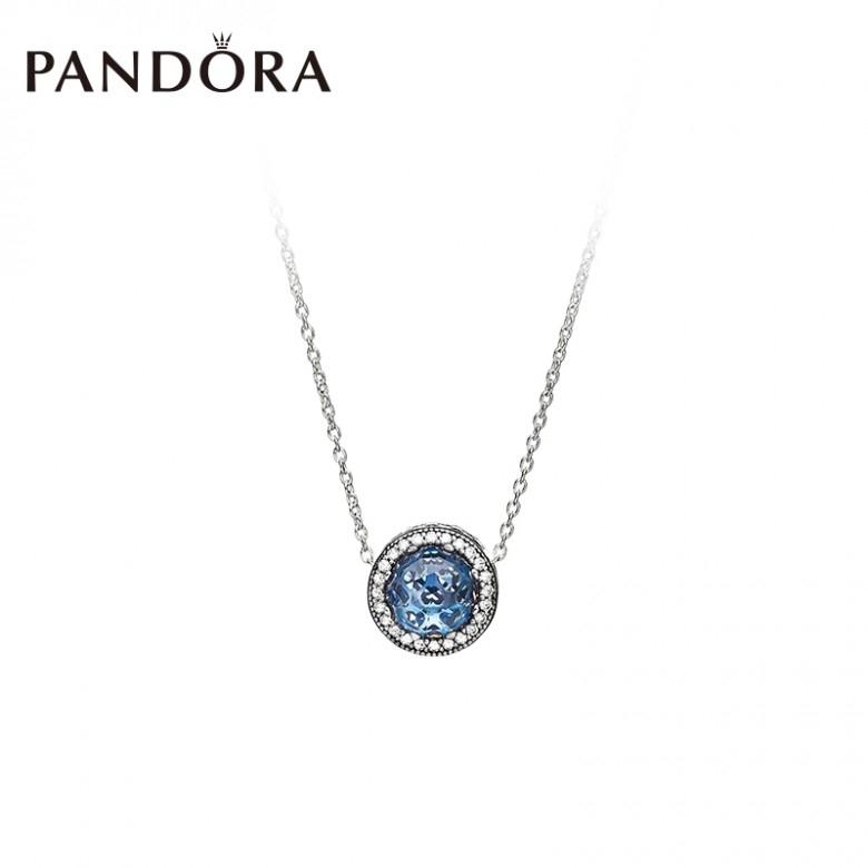 丹麦Pandora·海洋之心ZT0139项链套装 时尚气质个性锁骨链