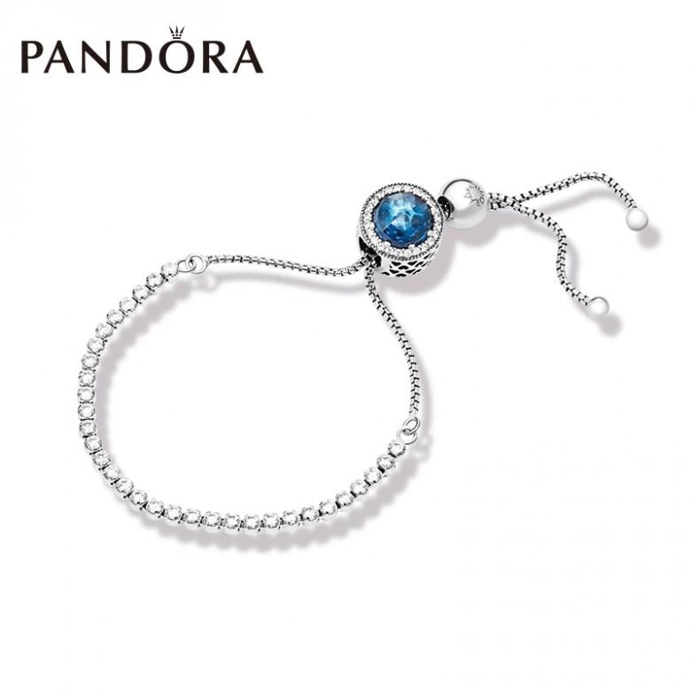 丹麦Pandora·潘多拉璀璨之星ZT0134手链串饰套装 蓝色时尚高级感