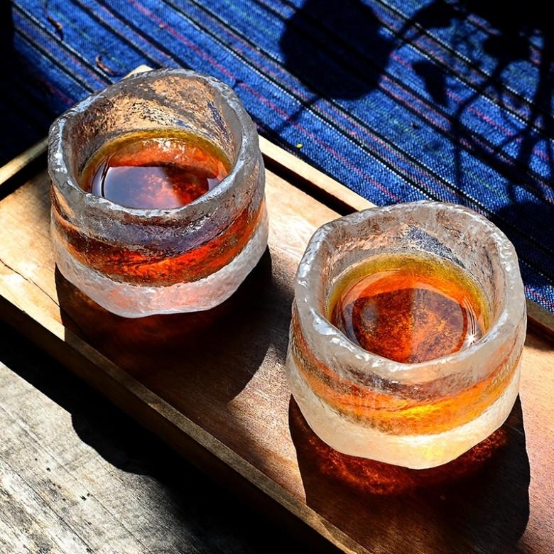 喜领 · 纯手工冰冻烧琉璃杯流年杯对杯
