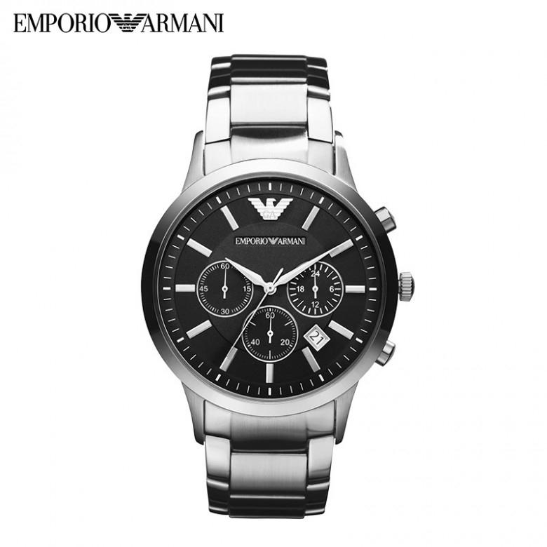 EmporioArmani·阿玛尼商务运动时尚钢带防水石英男士手表AR2434