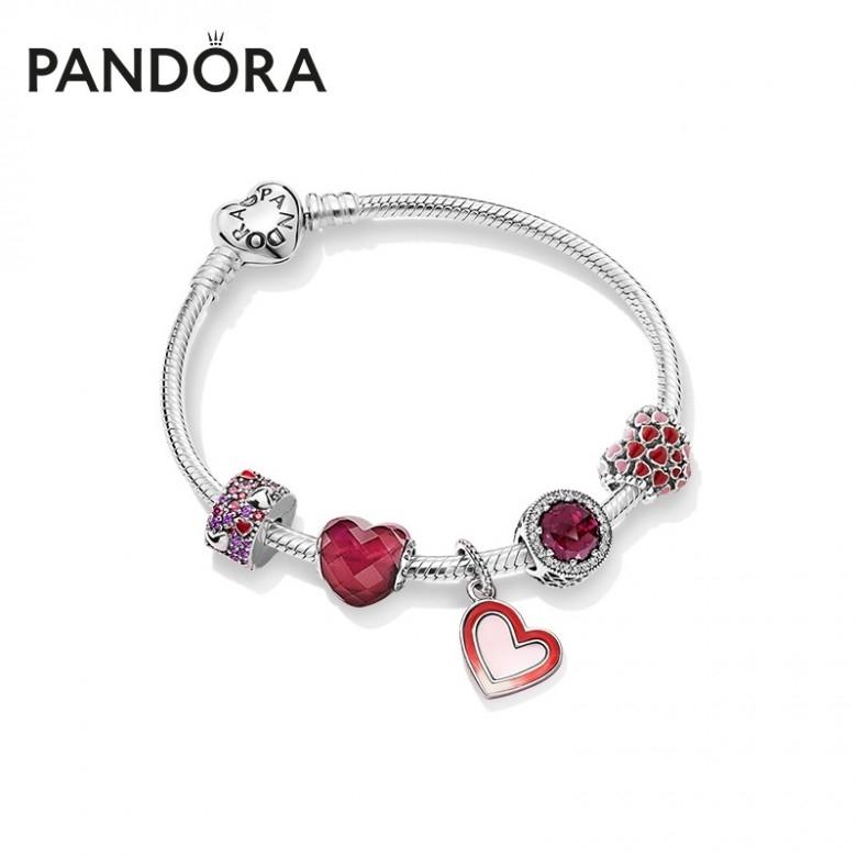 丹麦Pandora·潘多拉心心相印ZT0248手链套装·3款选